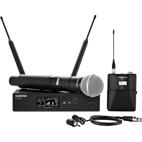 Shure QLXD124/85 Handheld and Lavalier Combo Wireless Mic System (X52: 902 to 928 MHz)