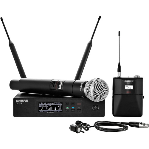 Shure QLXD124/85 Handheld and Lavalier Combo Wireless Mic System (L50: 632 to 696 MHz)