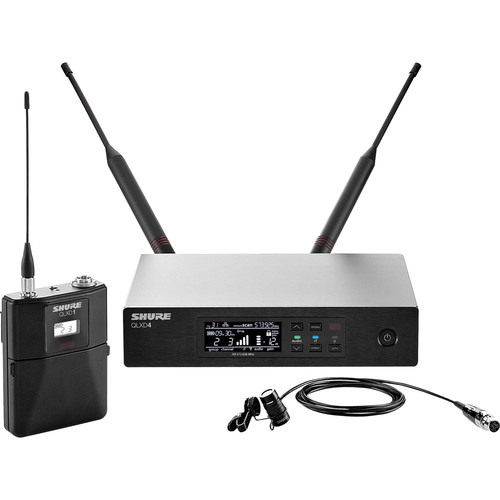 Shure QLXD14/83 Digital Wireless Omnidirectional Lavalier Microphone System (J50A: 572 to 608 + 614 to 616 MHz)
