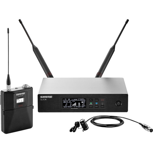 Shure QLXD14/84 Lavalier Wireless Microphone System (J50: 572 to 636 MHz)