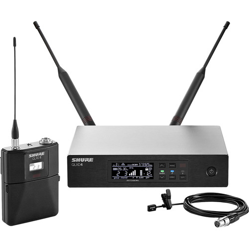 Shure QLXD14/93 Digital Wireless Omnidirectional Lavalier Microphone System (J50A: 572 to 608 + 614 to 616 MHz)
