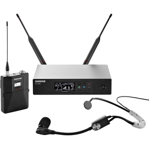Shure QLXD14/SM35 Digital Wireless Cardioid Performance Headset Microphone System (J50A: 572 to 608 + 614 to 616 MHz)