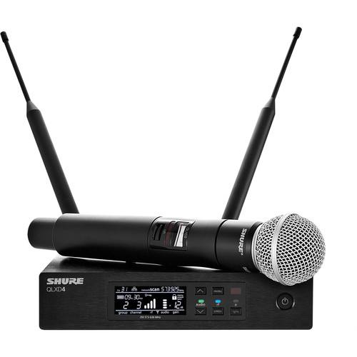 Shure QLXD24/SM58 Handheld Wireless Microphone System (J50: 572 to 636 MHz)