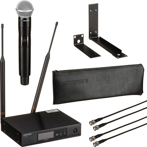 Shure QLXD24/SM58 Digital Wireless Handheld Microphone System with SM58 Capsule (J50A: 572 to 608 + 614 to 616 MHz)