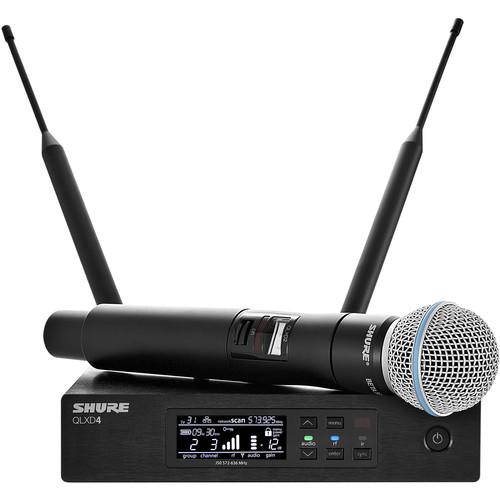 Shure QLXD24/B58 Handheld Wireless Microphone System (X52: 902-928 MHz)