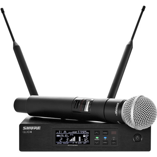 Shure QLXD24/SM58 Handheld Wireless Microphone System (X52: 902 to 928 MHz)