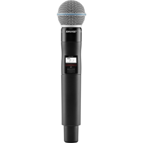 Shure QLXD2/B58A Digital Handheld Wireless Microphone Transmitter with Beta 58A Capsule (J50A: 572 to 608 + 614 to 616 MHz)