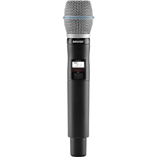 Shure QLXD2/B87A Digital Handheld Wireless Microphone Transmitter with Beta 87A Capsule (V50: 174 to 216 MHz)