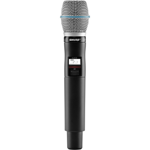 Shure QLXD2/B87A Digital Handheld Wireless Microphone Transmitter with Beta 87A Capsule (G50: 470 to 534 MHz)