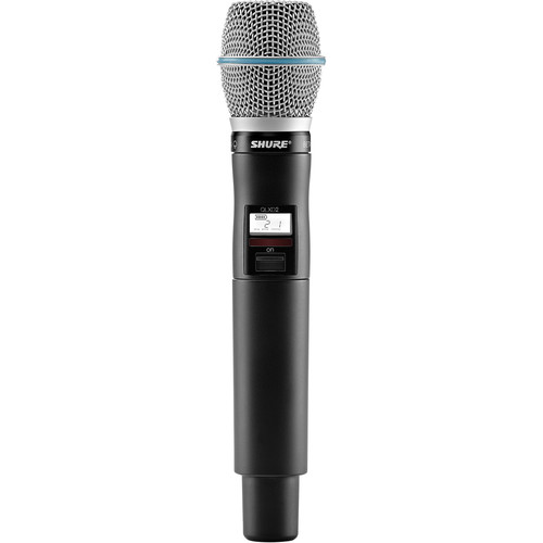 Shure QLXD2/Beta87A Handheld Wireless Transmitter (J50: 572 to 636 MHz)