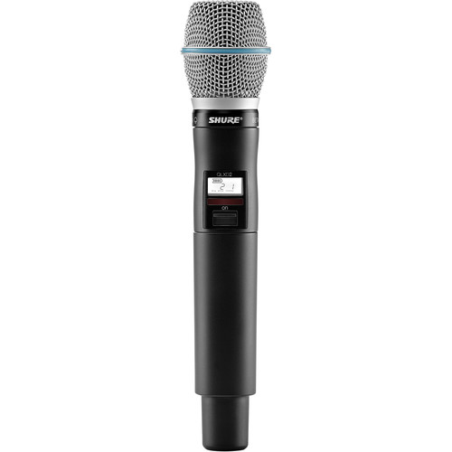 Shure QLXD2/Beta87A Handheld Wireless Transmitter (L50: 632 to 696 MHz)