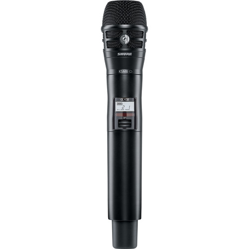 Shure QLXD2/KSM8 Handheld Wireless Transmitter (J50: 572 to 636 MHz)