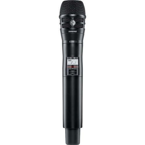 Shure QLXD2/KSM8 Digital Handheld Wireless Microphone Transmitter with KSM8 Capsule (X52: 902 to 928 MHz)