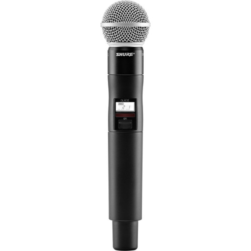 Shure QLXD2/SM58 Digital Handheld Wireless Microphone Transmitter with SM58 Capsule (J50A: 572 to 608 + 614 to 616 MHz)