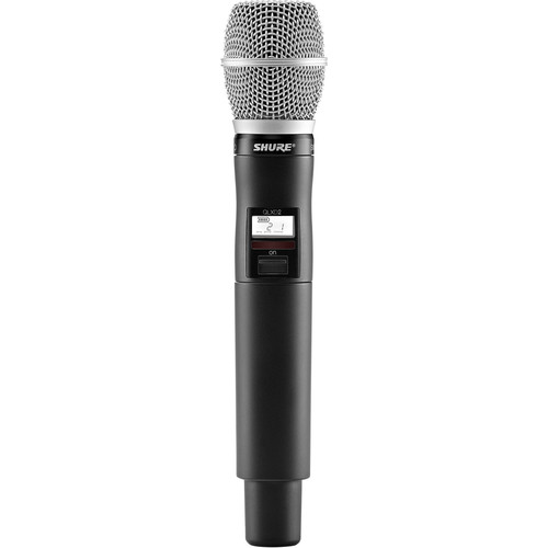 Shure QLXD2/SM86 Digital Handheld Wireless Microphone Transmitter with SM86 Capsule (J50A: 572 to 608 + 614 to 616 MHz)