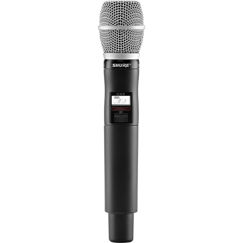 Shure QLXD2/SM86 Digital Handheld Wireless Microphone Transmitter with SM86 Capsule (V50: 174 to 216 MHz)