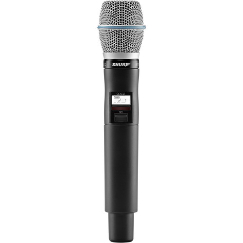 Shure QLXD2/B87A Digital Handheld Wireless Microphone Transmitter with Beta 87A Capsule (X52: 902 to 928 MHz)