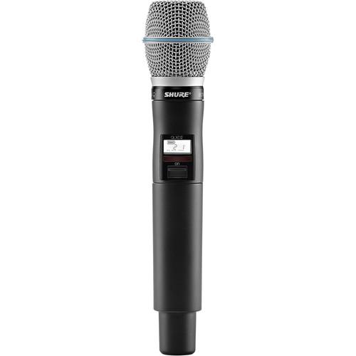 Shure QLXD2/B87C Digital Handheld Wireless Microphone Transmitter with Beta 87C Capsule (X52: 902 to 928 MHz)