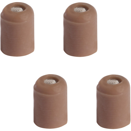 Shure +4dB Protective Cap for Countryman Earset & Micro-Lav Mic (4-Pack, Cocoa)