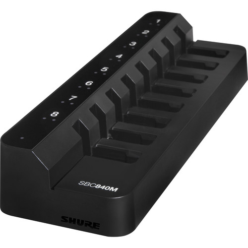 Shure SBC840M-US Networked Eight-Bay Battery-Only Tray Charger