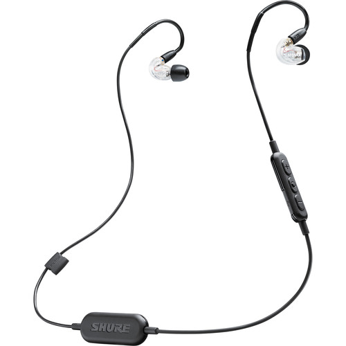Shure SE215-BT1 Sound-Isolating Earphones with RMCE-BT1 Bluetooth Cable (Clear)