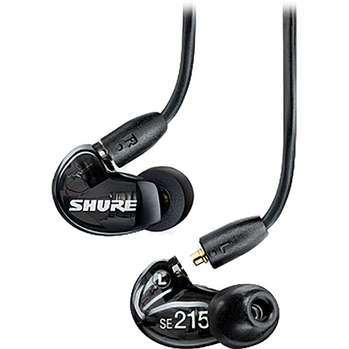 Shure SE215 In-Ear Headphones (Black) with Westone Bluetooth Cable