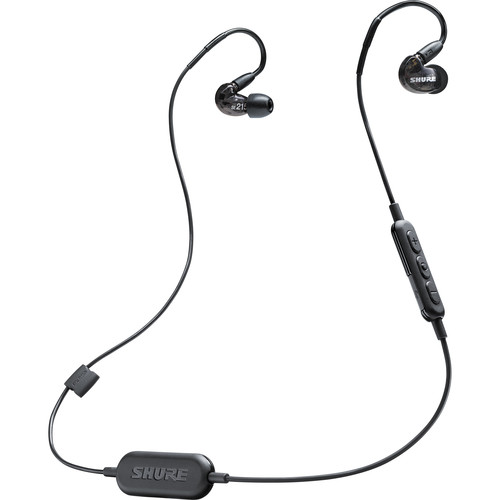 Shure SE215-BT1 Sound-Isolating Earphones with RMCE-BT1 Bluetooth Cable (Black)