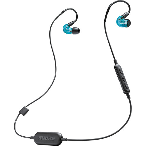 Shure SE215-BT1 Sound-Isolating Earphones with RMCE-BT1 Bluetooth Cable (Blue)