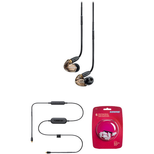 Shure SE535 Sound Isolating In-Ear Headphones and Bluetooth Cable Kit (Metallic Bronze)