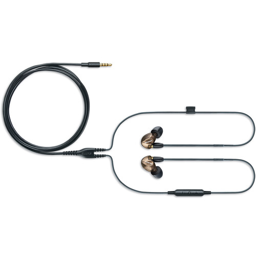 Shure SE535 Sound-Isolating In-Ear Stereo Headphones with Bluetooth and 3.5mm In-Line Remote/Mic Cables (Bronze)