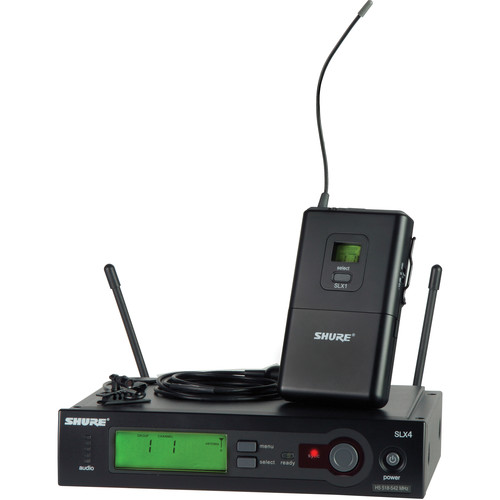 Shure SLX Wireless Subminiature Lavalier Microphone Kit (G4: 470-494MHz)