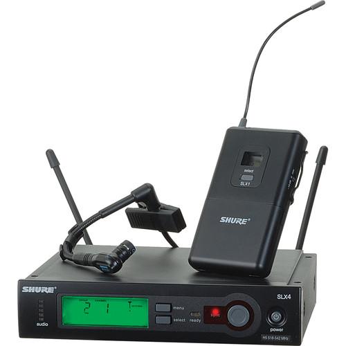 Shure SLX UHF Wireless Instrument Kit (BETA98H/C, J3: 572 - 596 MHz)