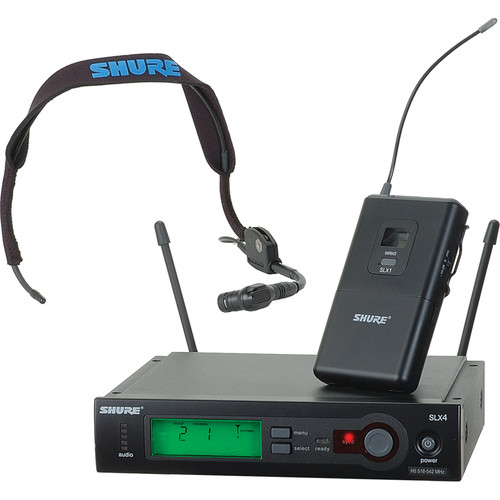 Shure SLX Wireless Headset Microphone Kit (H5: 518-542 MHz)