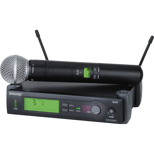 Shure SLX24/SM58 Wireless Handheld Microphone System with SM58 Capsule (J3: 572 to 596 MHz)