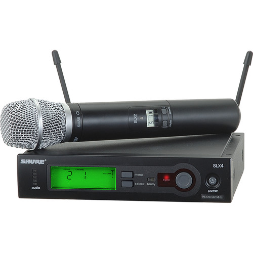 Shure SLX24/SM86 Wireless Handheld Microphone System with SM86 Capsule (H19: 542 to 572 MHz)