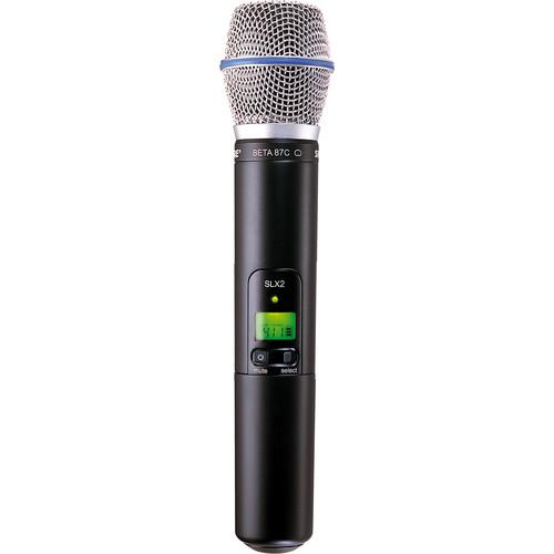 Shure SLX2/BETA87C Handheld Wireless Microphone Transmitter with Beta 87C Capsule (H19: 542 to 572 MHz)