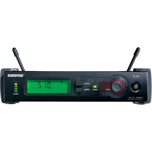 Shure SLX4L Wireless Receiver (H19: 542 to 572 MHz)