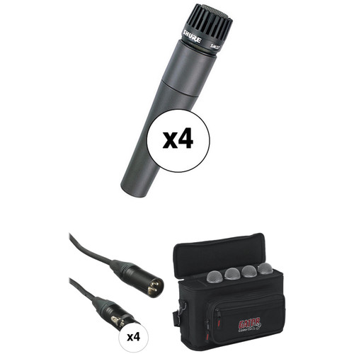 Shure SM57-LC Quad Pack with Cables Kit