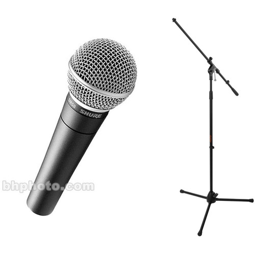 Shure SM58-CN Vocal Mic Kit with Cable and Boom Stand