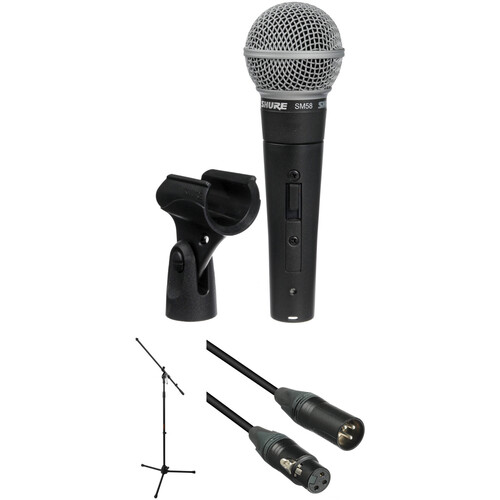 Shure SM58S Mic, Stand, and Cable Kit