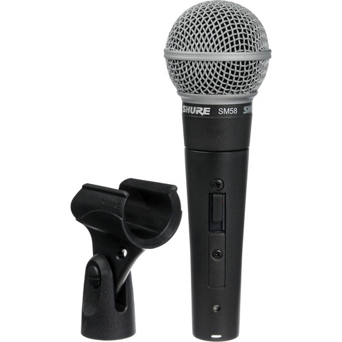 Shure SM58S Cardioid Microphone Kit - Includes Switch, Boom Stand, Cable, Case and Windscreen