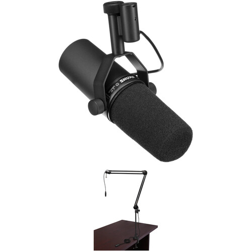 Shure SM7B Dynamic Vocal Microphone and Broadcast Arm Kit