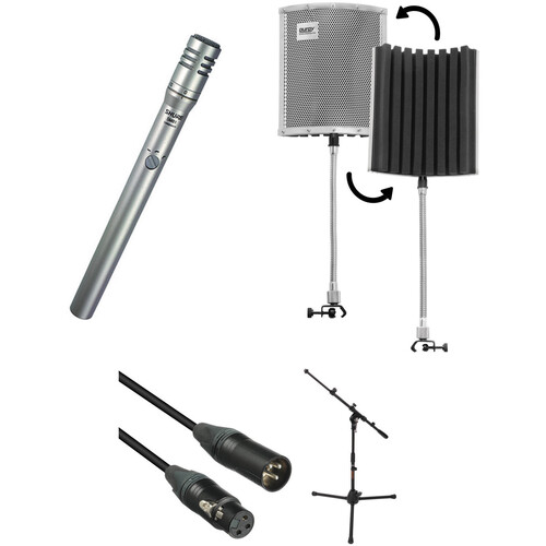 Shure SM81-LC Microphone Kit with Reflection Filter, Mic Stand & XLR Cable
