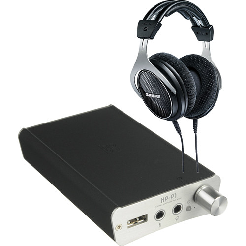 Shure SRH1540 Headphones with Portable Headphone Amp and DAC Kit