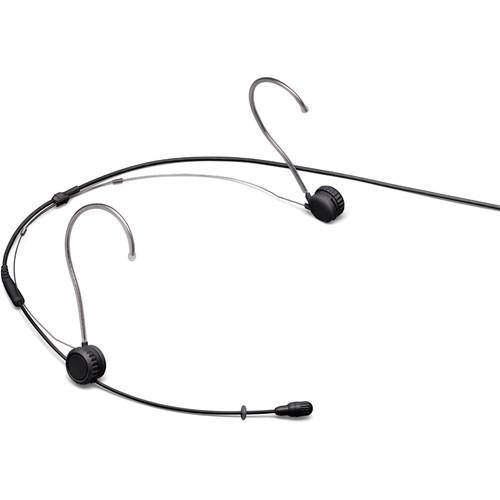 Shure TwinPlex TH53 Omnidirectional Headset Microphone (Microdot, Black)