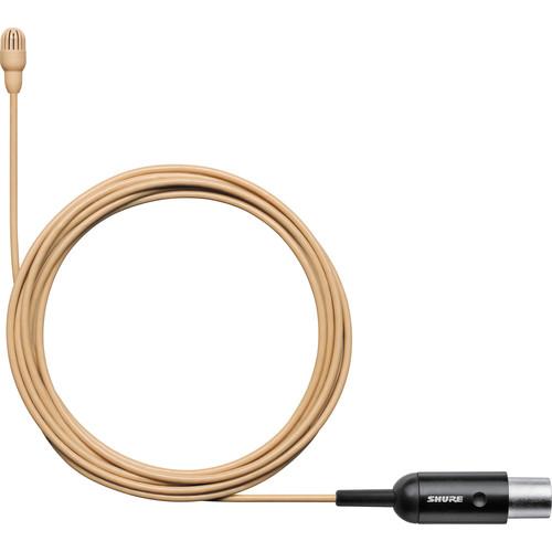 Shure TwinPlex TL46 Omnidirectional Lavalier Microphone (TA4F, Tan)