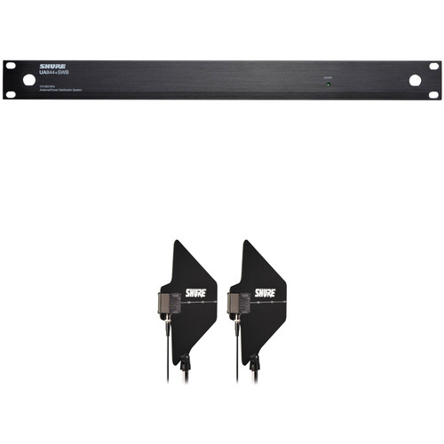 Shure UA844+SWB UHF Antenna Distribution System with Active Directional Antennas Kit (3 to 5 Systems)