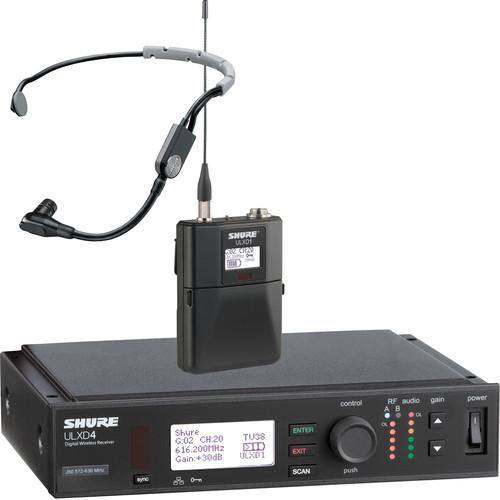 Shure ULX-D Digital Wireless Headset Kit (SM35, G50: 470 to 534 MHz)