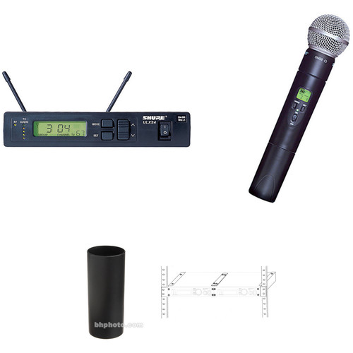 Shure ULXS24/SM58 Wireless Handheld Microphone System with SM58 Capsule and Rackmounting Hardware Kit (J1: 554 to 590 MHz)