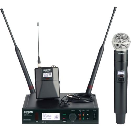 Shure ULXD Single-Channel UHF Handheld and Bodypack Kit (SM58, M150/C, G50: 470 - 534 MHz)